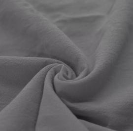 Gewassen katoen antraciet deken