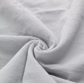 Gewassen katoen lichtgrijs deken