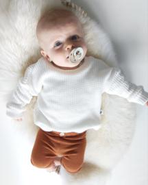 Off White/ecru big knit trui
