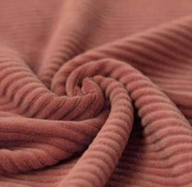 Vest lang terracotta velours rib