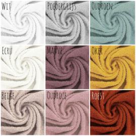 Aankleedkussenhoes badstof & wafel kleur naar keuze