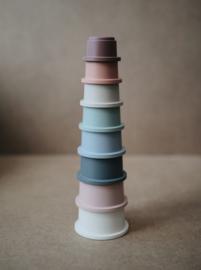 Mushie Stacking Cups/Stapeltoren Pastel