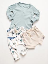 Soft rib henley shirt (5 kleuren opties)