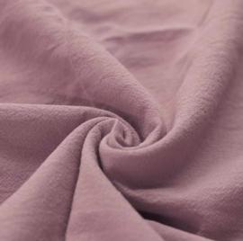 Gewassen katoen oudroze deken
