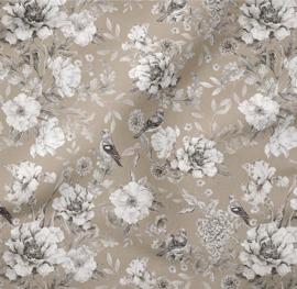 Romper flowers beige