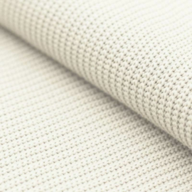 Ecru/Off White gebreid deken