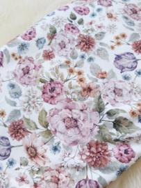 Knoophaarbandje pink flowers