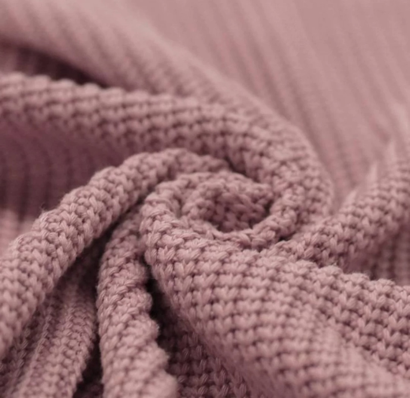 Oudroze big knit trui