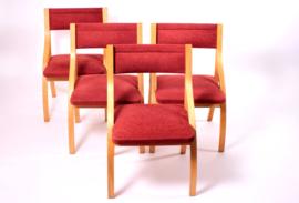 Set van 4 eetkamerstoelen van Ludvik Volak