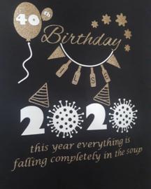 Verjaardag T-shirt corona