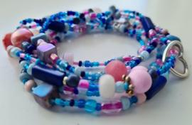 """Zomer Wrap Blue Pink Wikkel Arm-Ring"""