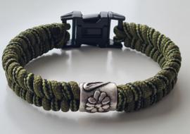 Paracord armband Army Fishtale Green