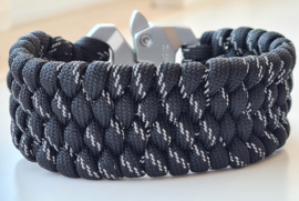 Paracord Armband Slim Trilobite Zwart
