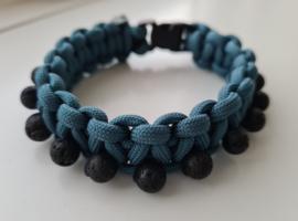 Paracord Armband Cobra Blue Lava