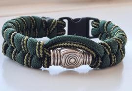 Paracord armband Army Fishtale Green Swirl