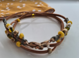 MM Ketting Oker Leather Look 104
