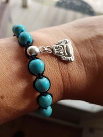 Shamballa Armband Blue Buddha