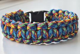 Paracord Armband Cobra Rainbow