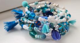 Blue Ocean Wikkel Armband