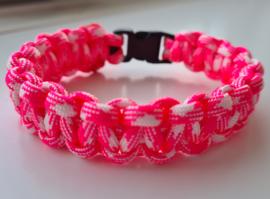 Paracord Armband Cobra Pink