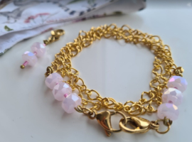 MM Ketting Gold Pink 114 incl hangertje