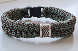 Paracord armband Army Fishtale Red-Green