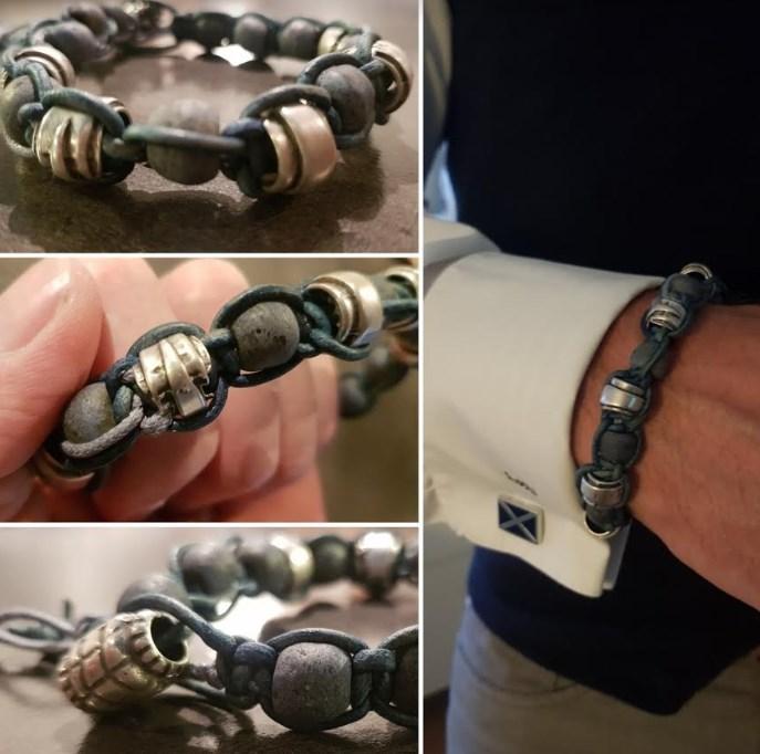 Heren armband van trade-beads en DQ-Materialen