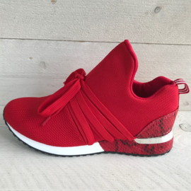 Lastrada knitted met laces rood
