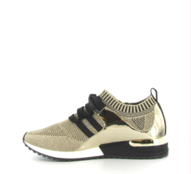 Lastrada knitted sneakers gold