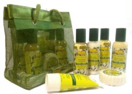 Idea Toscana - Cadeau of reisset met 50ml flesjes, handcrème, zeep - Natuurlijk, zonder synthetische toevoegingen