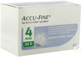 Accu-Fine 0,23mm(32G)x4mm 100 Stuks