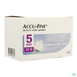 Accu-Fine 0,25mm(31G)x 5mm 100 Stuks