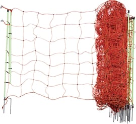 Schrikdraadnet Plus-Min 90 cm hoog, met dubbele punt