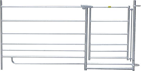 Steekfix hek met poort 92 cm hoog, 1,83 m lang