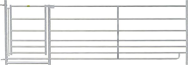 Steekfix hek met poort 92 cm hoog, 2,75 m lang