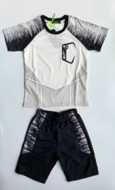Sportsetje wit/zwart