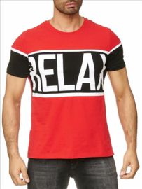 Relax t-shirt rood