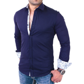 Casual overhemd blauw