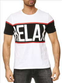 Relax t-shirt wit