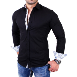 Casual overhemd zwart