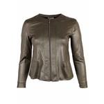 Leatherlook jasje donkergroen