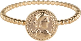 Ring Roman Coin Gold Steel
