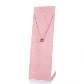 Armband X ketting display roze
