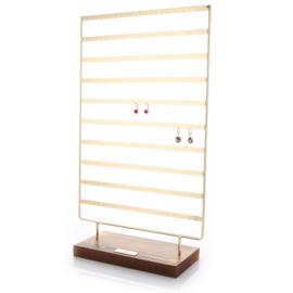 Oorbellen display XL goud