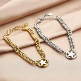 Armband met grote ster