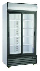 Glasdeur koelkast | Flessenkoelkast 2 schuifdeuren 800 Liter