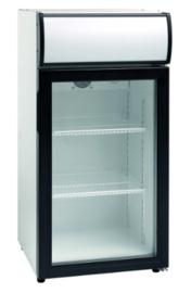 Mini koelkast | Opzetkoelkast met glasdeur 80 Liter