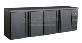 Barkoelkast | Barkoeling met 4 deuren zwart 86cm Hoog