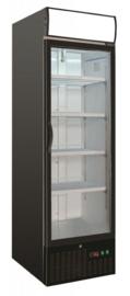 Glasdeurkoelkast | Flessenkoelkast zwart 460 Liter