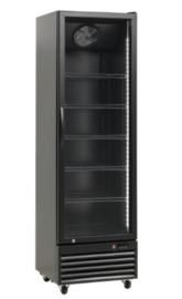 Glasdeur koelkast zwart 366L